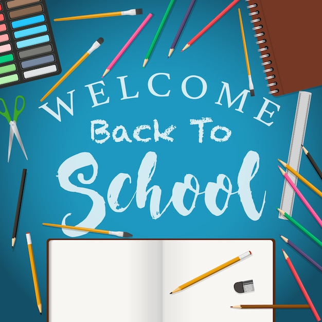 Freepik Welcome Back To School Background Vector For Free