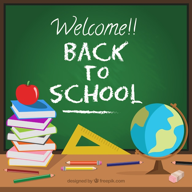 Welcome back to school background Free Vector