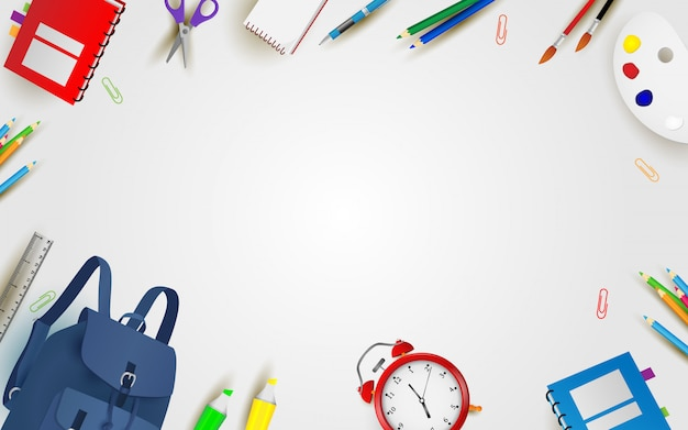 Welcome back to school background Premium Vector