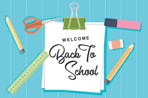 Welcome back to school concept Premium Vector