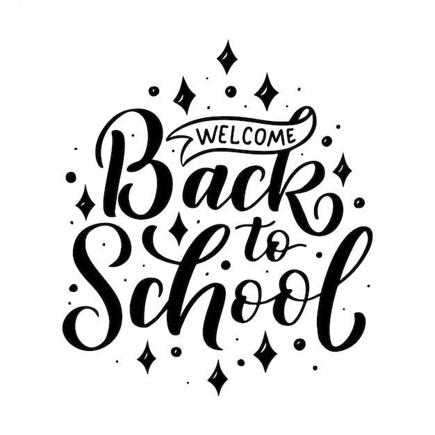Welcome back to school lettering quote. back to school sale tag. | Premium  Vector