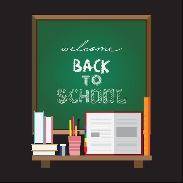 Welcome back to school poster Premium Vector
