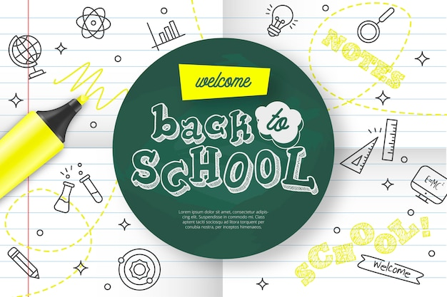 Welcome back to school Free Vector