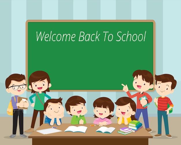 Welcome back to school Premium Vector