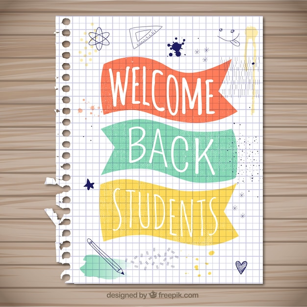 Welcome back students vector free download for Back home pictures