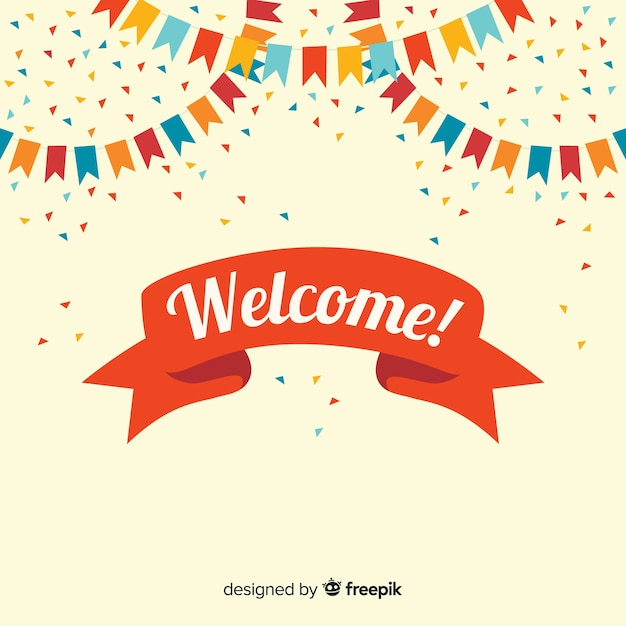 Welcome background Free Vector
