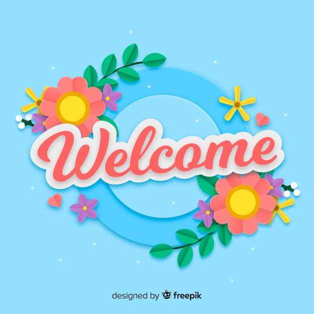 welcome background vector free download