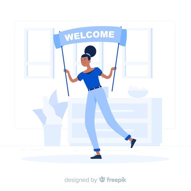 Illustrazione di concetto di benvenuto Vettore gratuito