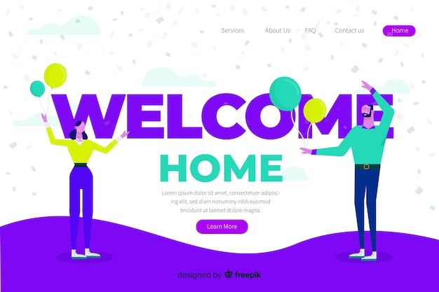 Welcome concept illustration Free Vector