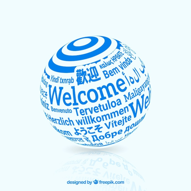 Welcome in different languages Free Vector