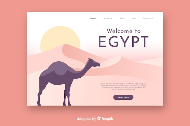 Welcome to egypt landing page Free Vector