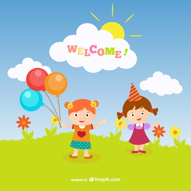Welcome greeting card vector free download welcome greeting card free vector m4hsunfo