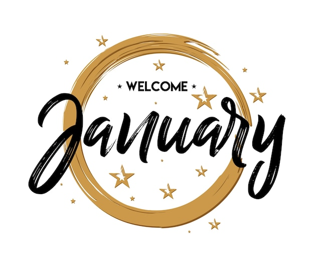 Welcome january grunge vector for greeting new month vector welcome january grunge vector for greeting new month premium vector m4hsunfo