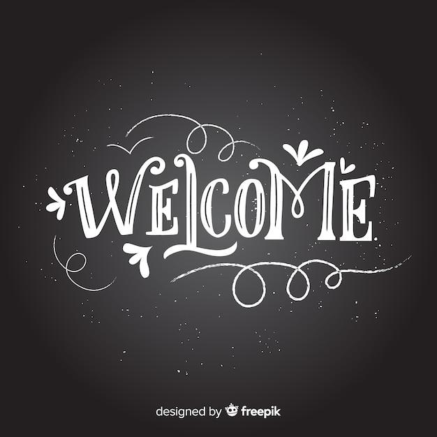 Concetto di lettering di benvenuto Vettore gratuito