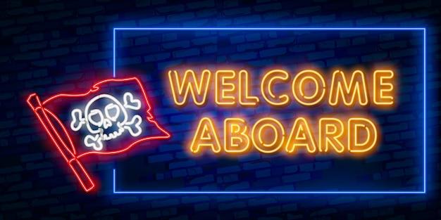 Welcome neon text Premium Vector