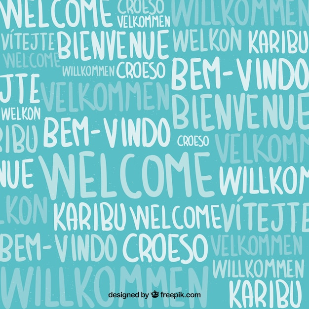 Welcome pattern in different languages Free Vector