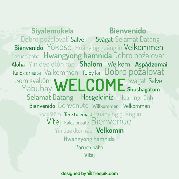 Welcome pattern in different languages Vector | Free Download