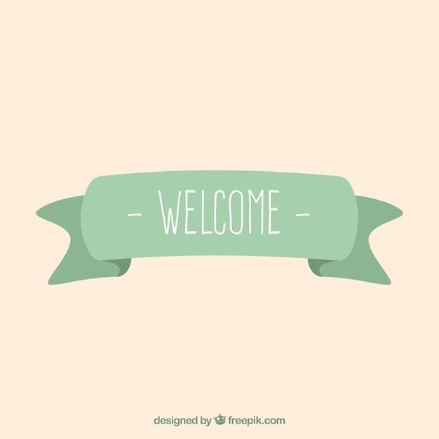 Welcome ribbon  Free Vector
