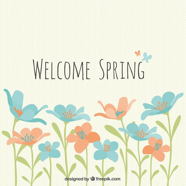 Welcome spring flowers vector free download welcome spring flowers free vector mightylinksfo Gallery