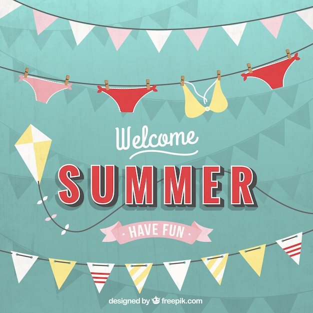 Welcome summer Free Vector