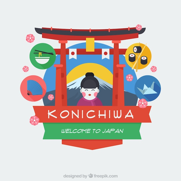 Welcome To Japan Nice Backgorund Vector Free Download - Japan map vector free download