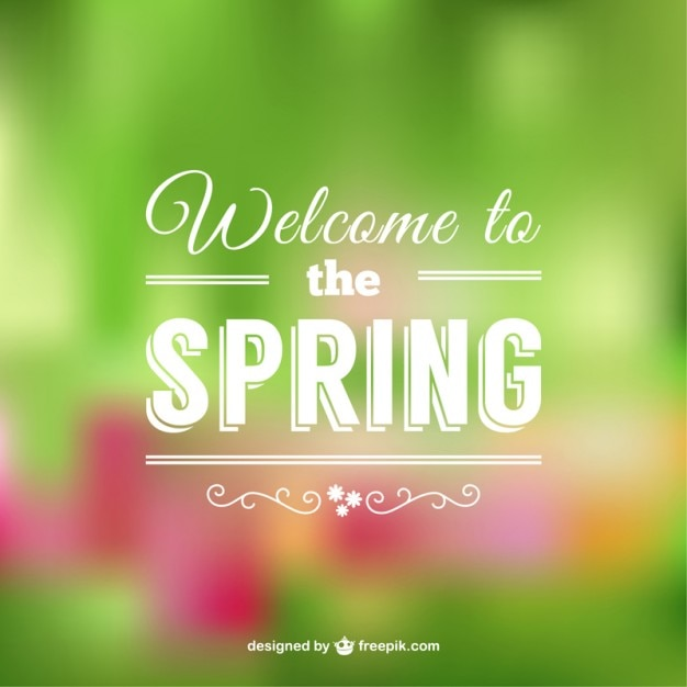 Welcome to the spring beautiful\ background