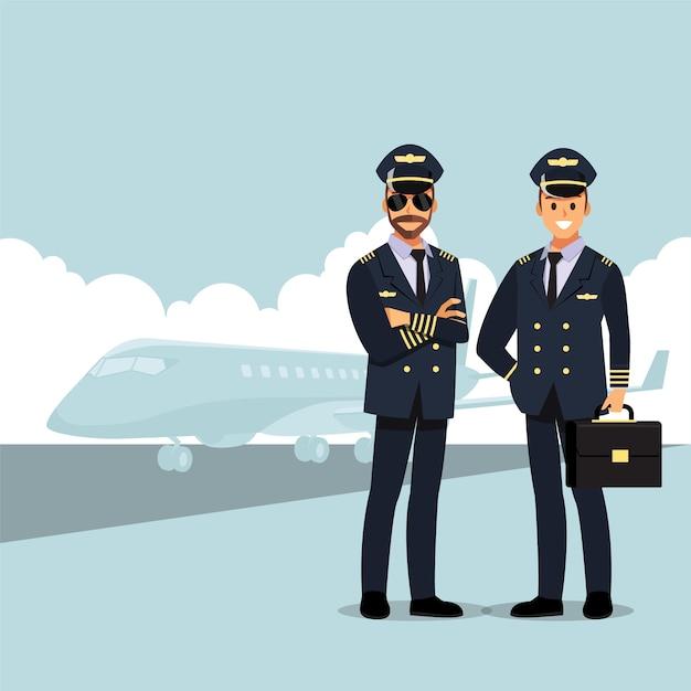 Добро пожаловать в путешествие на самолете Premium векторы