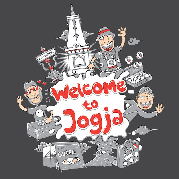 Добро пожаловать на выставку йогакарта Premium векторы