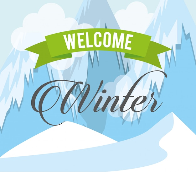 Welcome winter design Premium Vector