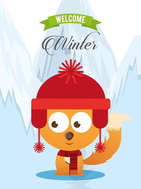 Welcome winter design Premium Vector