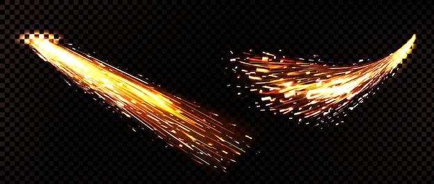 透明に分離された溶接火花 無料ベクター