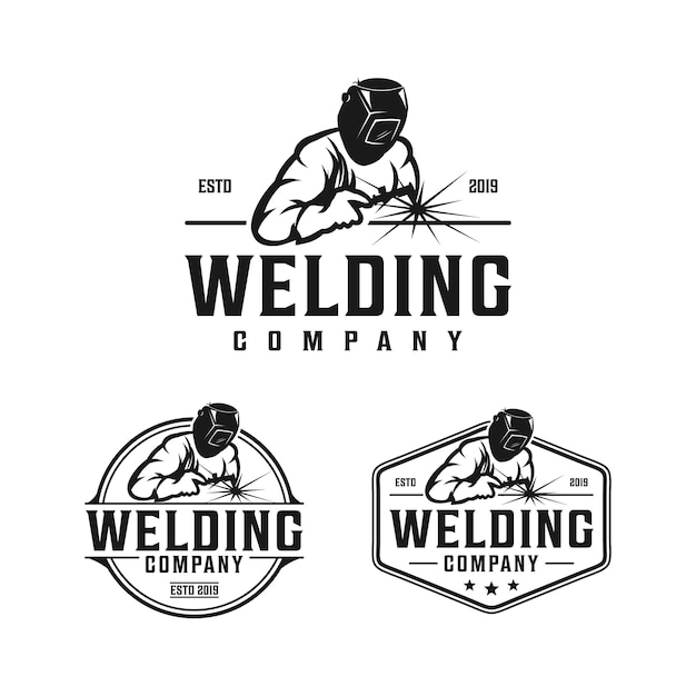 Premium Vector Welding Company Retro Vintage Logo Design