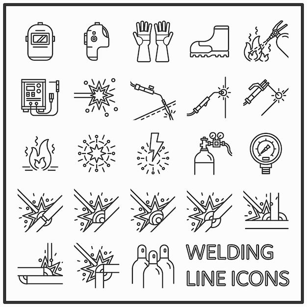 Welding line icon. Premium Vector