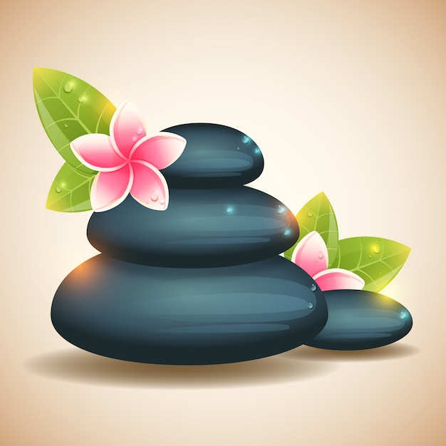 Wellness background  Wellness background with stones Vector | Free Download