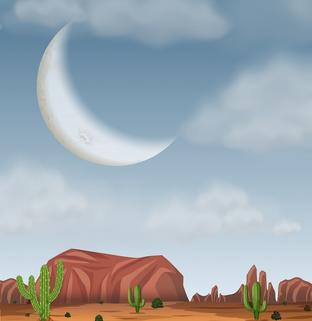 A western desert background Free Vector