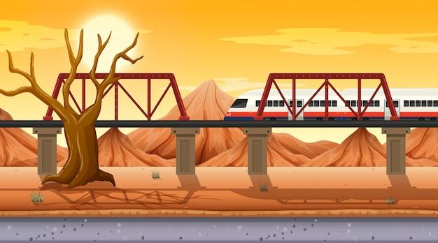 Western desert themed scene in nature Free Vector