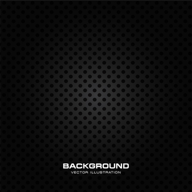 Wet speaker grille texture, black perforated background Premium Vector