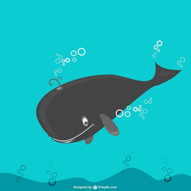 Whale illustrazione vettoriale Vettore gratuito
