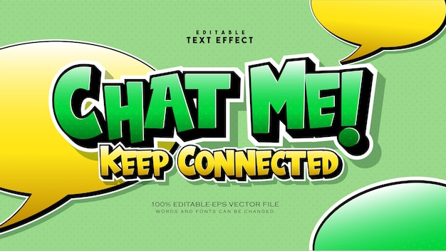Whats up text style effect Free Vector