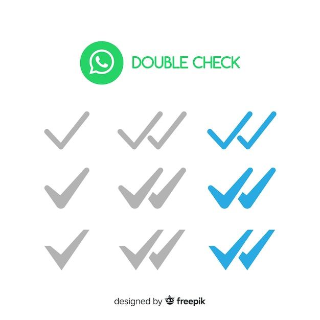 Whatsapp double check design Free Vector