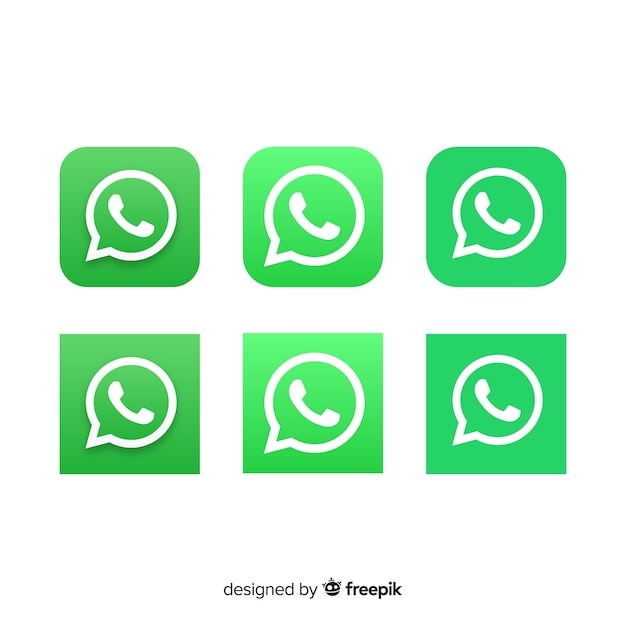 Whatsapp icon collection Vector | Free Download