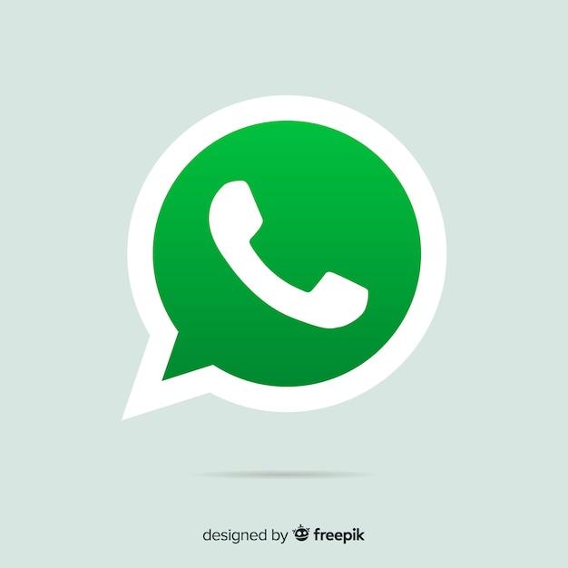 Whatsapp icon design Free Vector