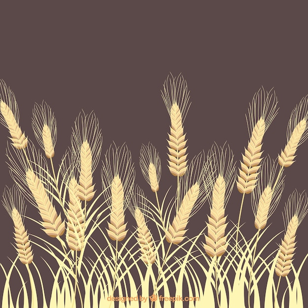 Wheat ears background Free Vector