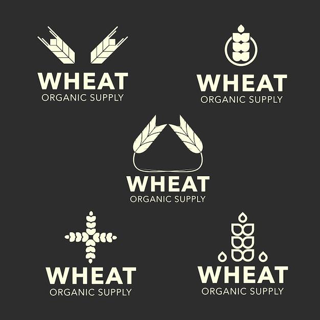 Коллекция логотипов пшеницы Бесплатные векторы