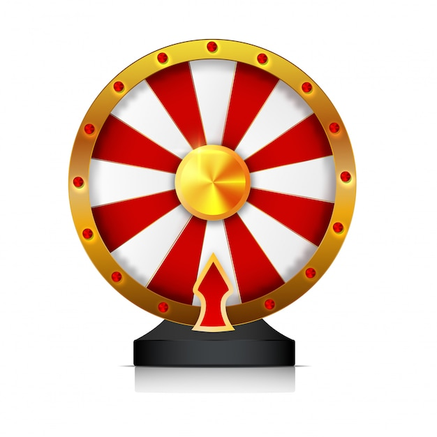 Wheel of fortune isolated vector object on white background. Premium Vector