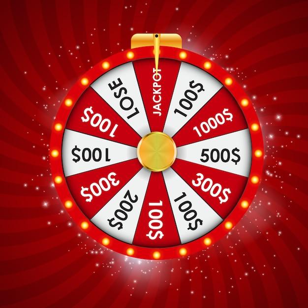 Wheel of fortune, lucky illustration Premium Vector
