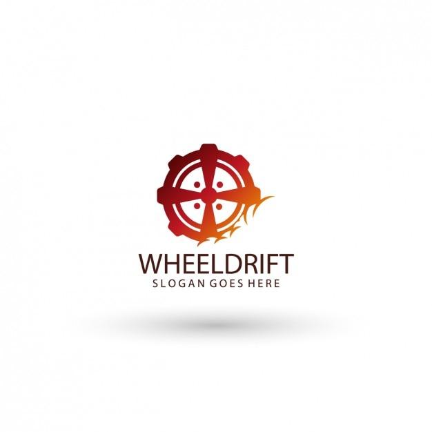 Wheel logo template Free Vector