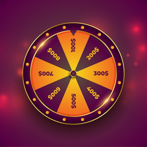 Wheel of luck fortune on bokeh Free Vector