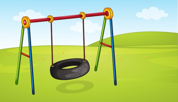 A wheel swing in the park Premium Vector