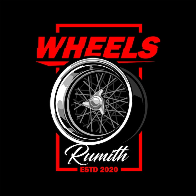 Wheels vector illustration Premium Vector